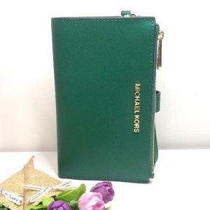 Michael Kors MF wallet jewel green
